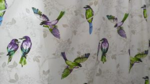 Modern bird curtains
