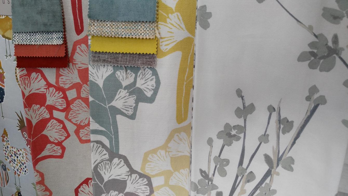 large range of curtains fabrics