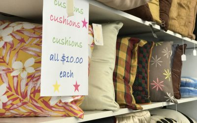 NOW all cushions $10 each.